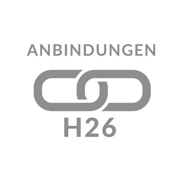 Anbindung Profil mit Gabionensäule H26