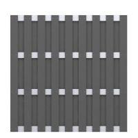JUMBO WPC Anthrazit - Aluminium 179x179cm