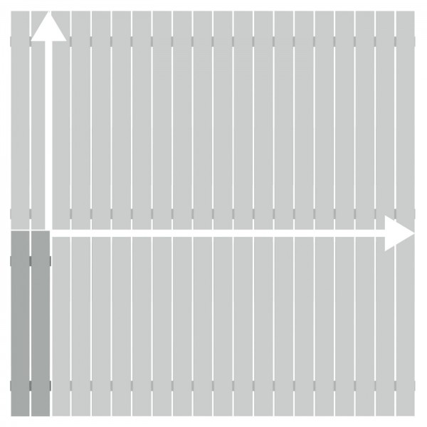Alu-Zaun Squadra Lichtgrau auf Maß 20-200x91-200cm