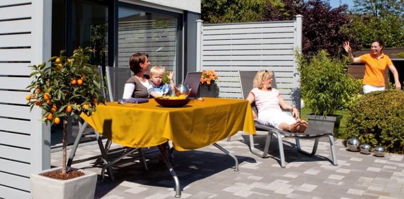Sichtschutz Kunststoff Riva :  Kunststoff Grau  KunststoffSichtschutz – Gartenzaun24