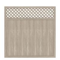 LONGLIFE RIVA -gerade mit Gitter, Polareiche 180x180cm