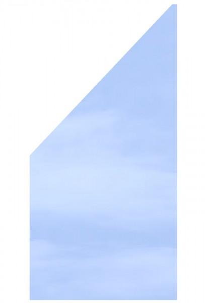 Glaselement KLAR Anschluss 90x180/90cm