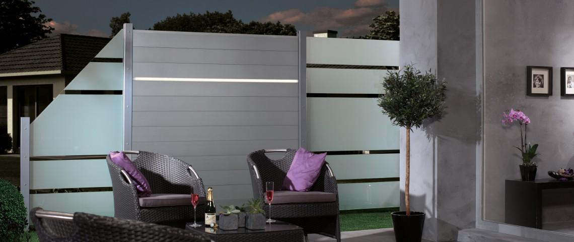 sichtschutz fur terrasse aus glas kreatif von zu hause. Black Bedroom Furniture Sets. Home Design Ideas