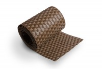 Sichtschutzstreifen Braun Rattan, Streifen- Zuschnitt
