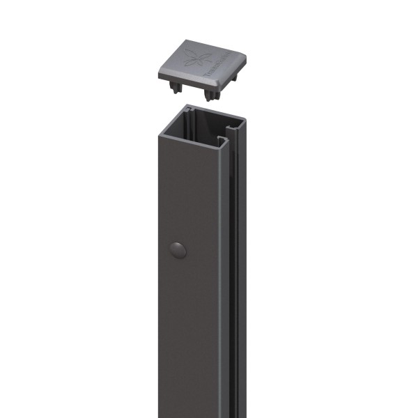 SYSTEM U-Klemmprofil, für System Glas und Board anthrazit