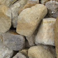Gabionenstein Sandstein Gelb-Grau