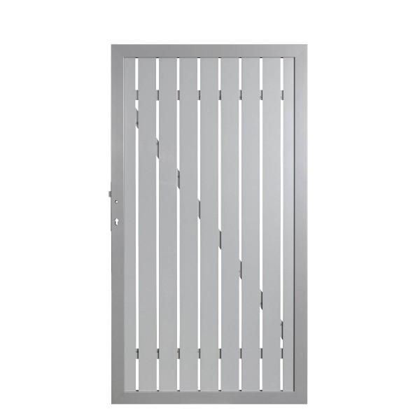 Squadra Lichtgrau Alu-Tor DIN Links 98 x 180 cm