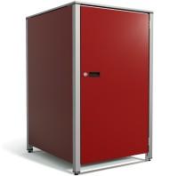 Tricot Mülltonnenbox Grau-Metallic