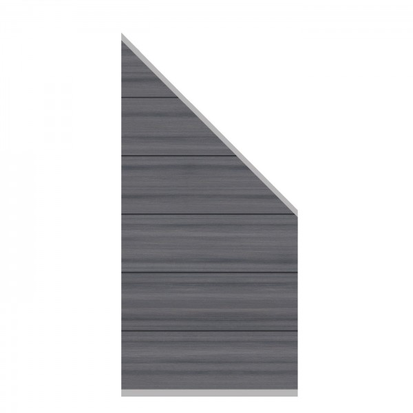 System WPC Platinum XL Zaun-Anschluss-Set, 89x183x93cm
