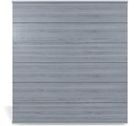 System Platinum XL Zaunset grau, Silber-Leiste 178x183cm