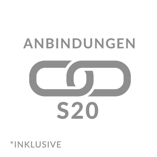 Anbindung Profil mit Gabionen S20