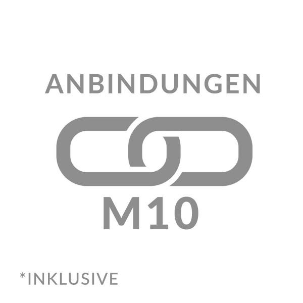 Anbindung Profil mit Gabionen M10