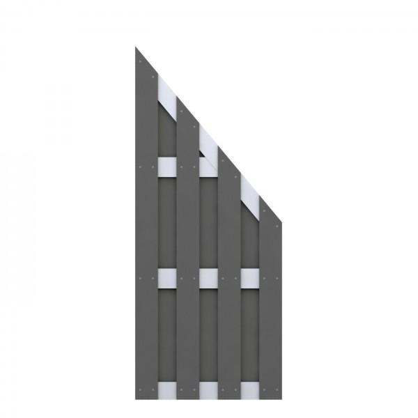 JUMBO WPC Anschluss Anthrazit - Aluminium 74x179/90cm