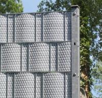 Sichtschutzstreifen Rattan, Streifen- Zuschnitt, Hellgrau