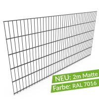 Doppelstabmatte 6/5/6 - Breite 2000mm, Anthrazit RAL 7016