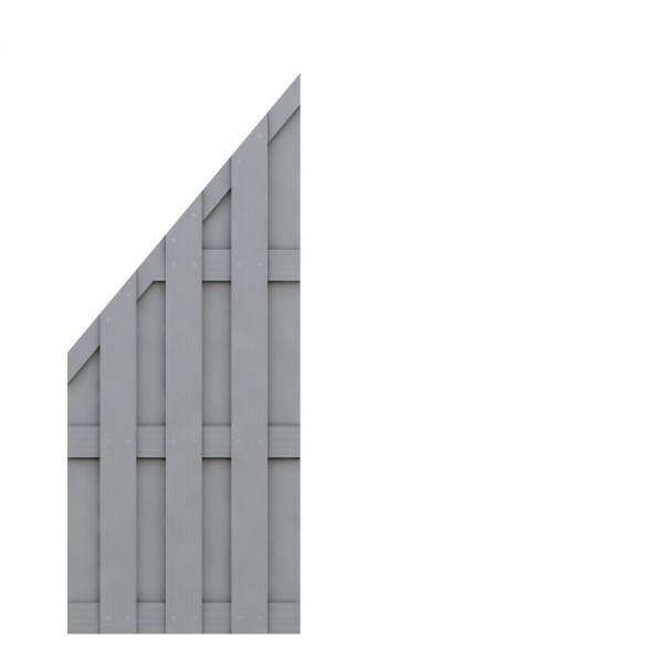 JUMBO WPC Anschluss Grau 74x179/90cm