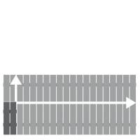 Alu-Vorgartenzaun Squadra Anthrazit auf Maß 20-200x50-90cm