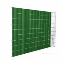 Gabionensäule Hamm H26 mit 656 Doppelstabmatte mit Sichtschutzstreifen Erweiterungselement