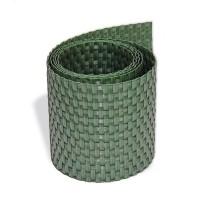 Sichtschutzstreifen Rattan, Streifen- Zuschnitt, Grün