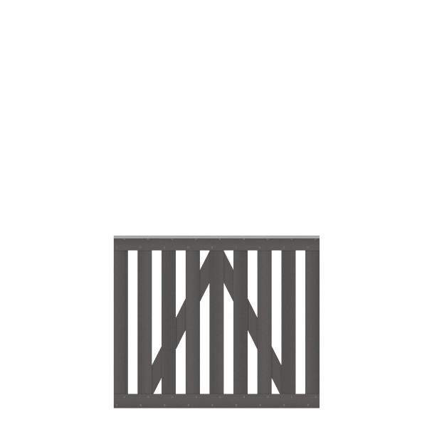 RAJA WPC Beschlagsatz für Einzeltor