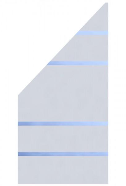 Glaselement Design ALPHA Anschluss Links 90x180/90cm