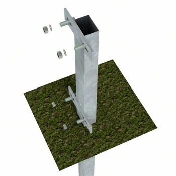 Bodenanker zum einbetonieren, 60x40x1000