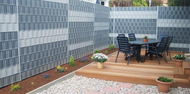 Sichtschutz Kunststoff Riva : Sichtschutz Alu Kunststoff  Sichtschutz aus Lärchenholz überlappt