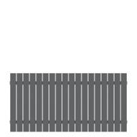 Alu-Vorgartenzaun Squadra Anthrazit 180x90cm