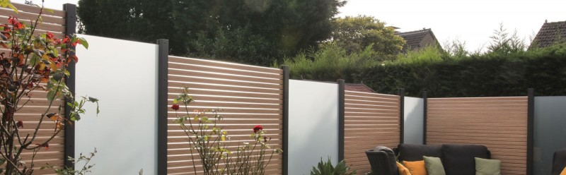 System Rhombus Aluminiumzaun, Aluzaun, Holzbeschichtung