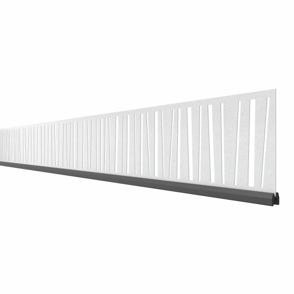 System Dekorprofil LINEA, 178cm Breite, Silber