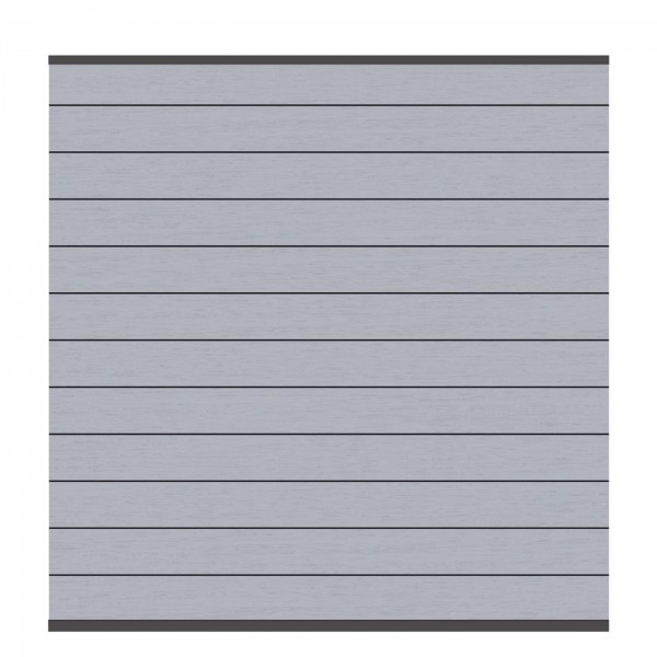 SYSTEM WPC CLASSIC Zaunfeld-Set, Grau 178x184cm