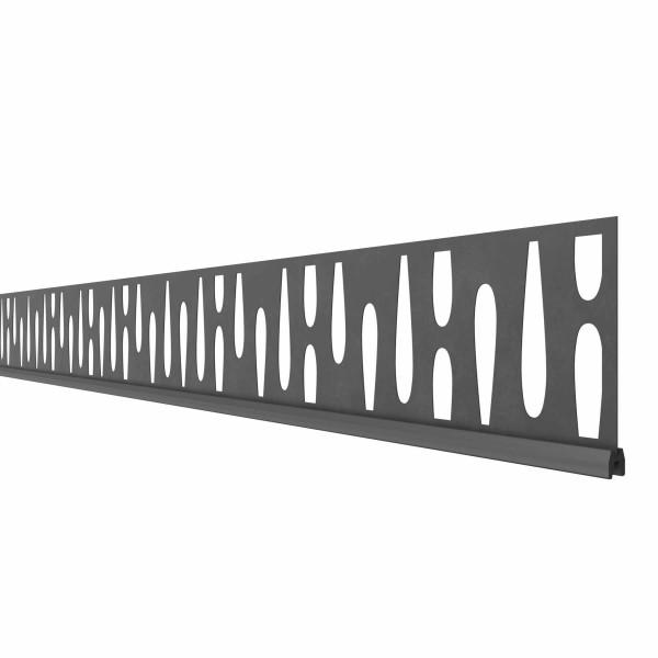 System Dekorprofil OMEGA, 178cm Breite, Anthrazit