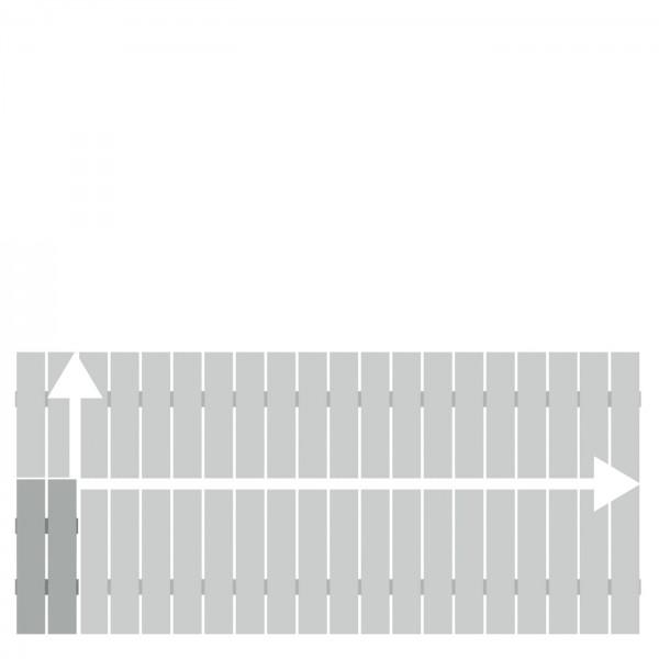 Alu-Vorgartenzaun Squadra Lichtgrau auf Maß 20-200x50-90cm