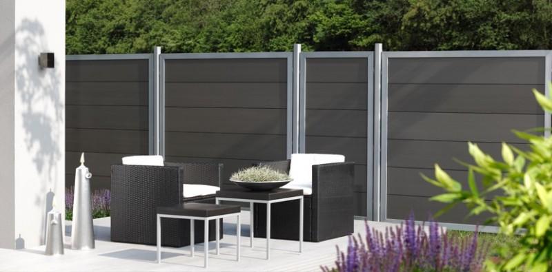 wpc sichtschutzelemente von traumgarten gartenzaun24 tore zaunsysteme. Black Bedroom Furniture Sets. Home Design Ideas