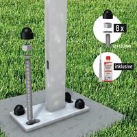 Verbundanker-Set für 2 Aufschraubträger (8 Gewindestangen, Montagemörtel)