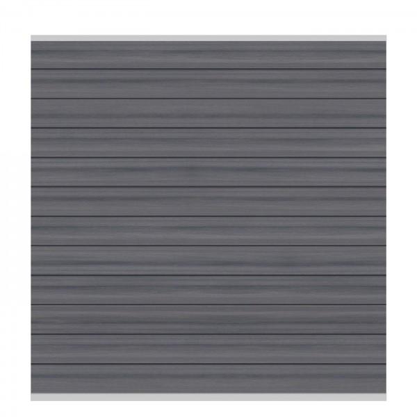 SYSTEM WPC Platinum Zaunfeld-Set, grau