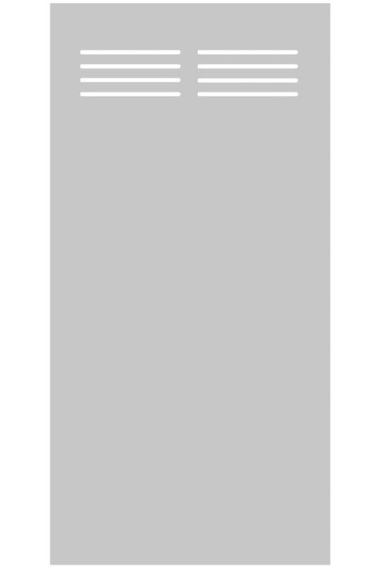 HPL-Element Slot-Design, Breite 900 mm
