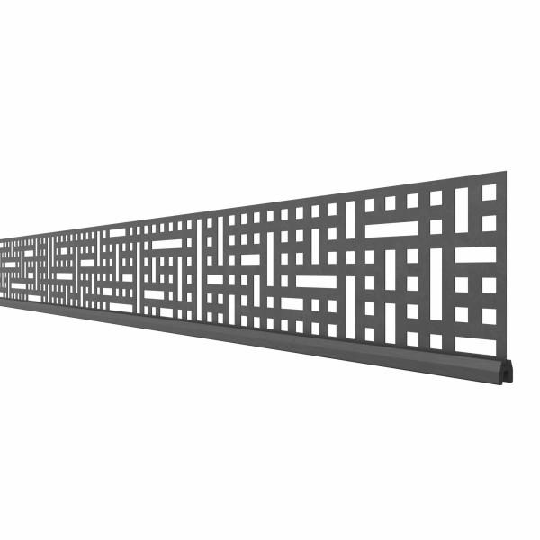System Dekorprofil QUATTRO, 178cm Breite, Anthrazit