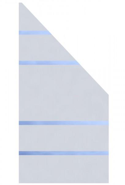 Glaselement Design ALPHA Anschluss Rechts 90x180/90cm
