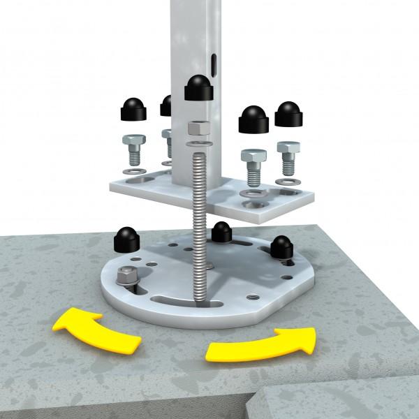 Eck-Montageadapter für Aufschraubanker