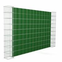 Gabionensäule Hamm H26 mit 656 Doppelstabmatte mit Sichtschutzstreifen Grundelement